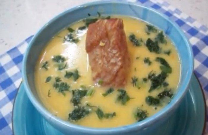 гороховый суп пюре с копчеными ребрышками
