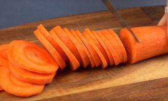 морковь кольцами для кабачковой икры