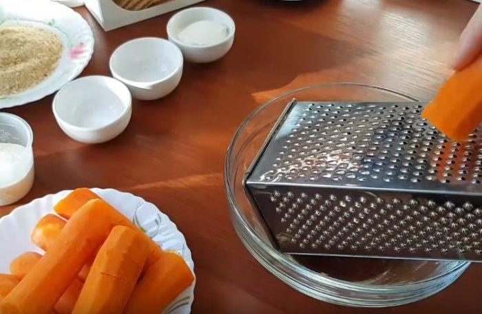 Варенная морковь натертая на терке