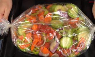 овощи для икры из кабачков в рукаве для запекания