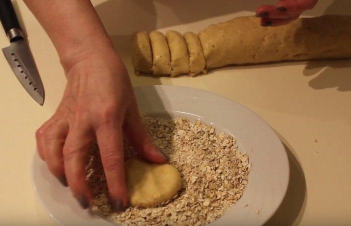 Тесто для печенья из геркулеса