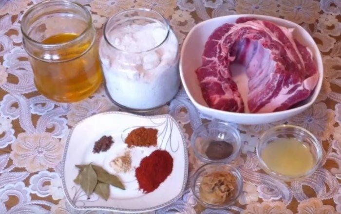 Мед, горчица и свиные ребрышки