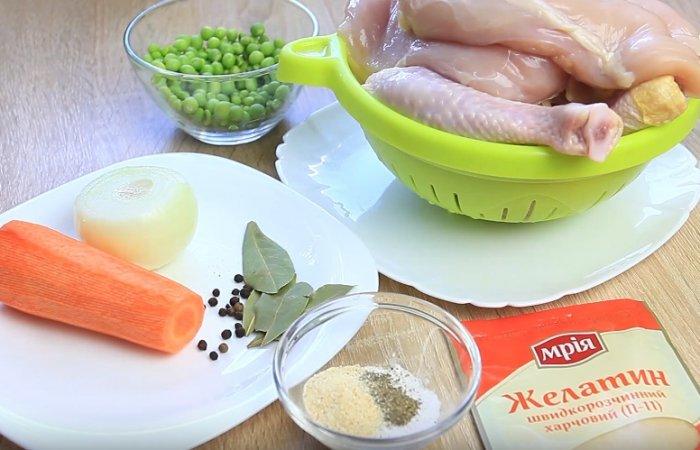 Ингредиенты для диетического холодца