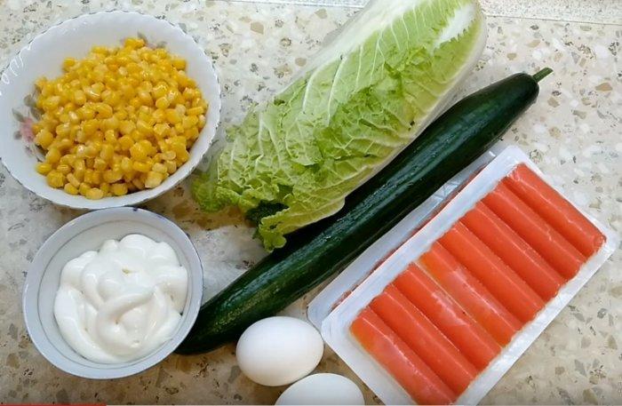 Для салата из капусты с крабовыми палочками
