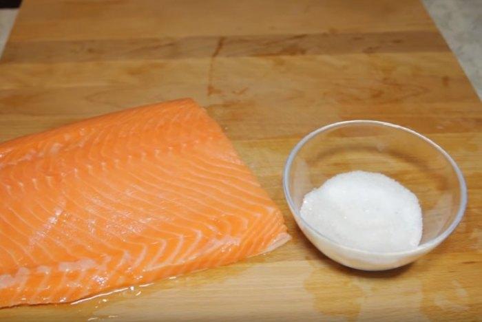Семга и соль