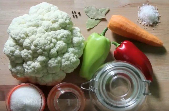 Маринованная цветная капуста приготовление на зиму