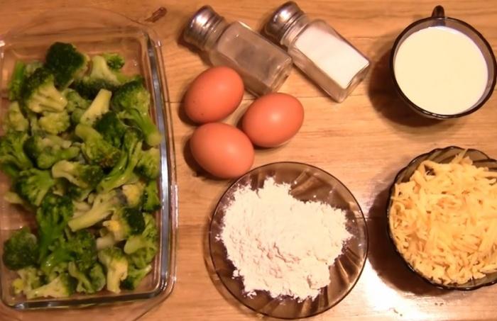 Брокколи, яйца и сыр