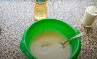 В кефир добавлена сода и соль