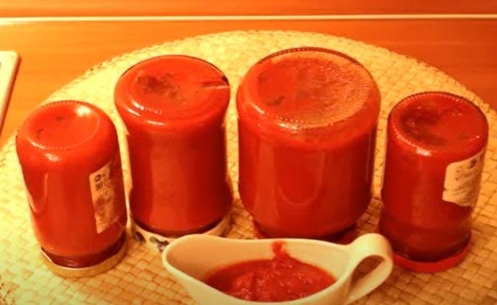 Домашняя томатная паста из помидор