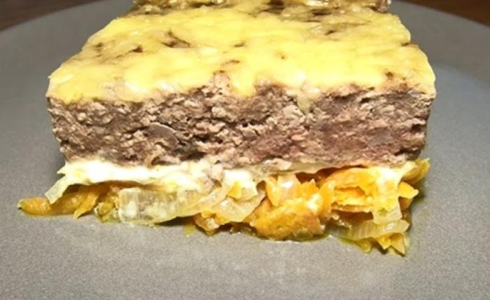 Куриная печень по-царски с сыром