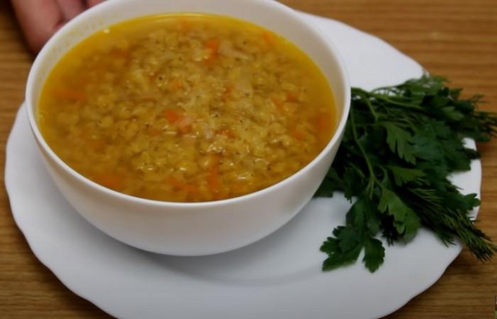Чечевичный суп без добавления мяса