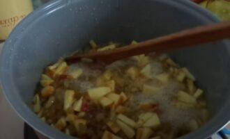 Варим варенье из яблок, апельсина и ревеня