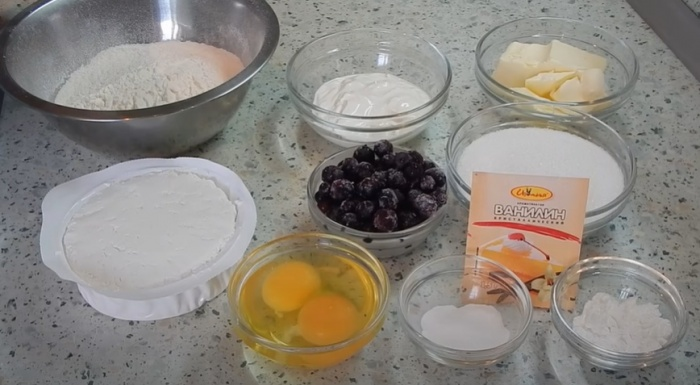 Вот что надо для приготовления творожных кексов