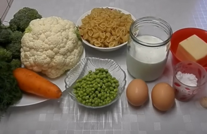 какие продукты нужны для запеканки из макарон с брокколи