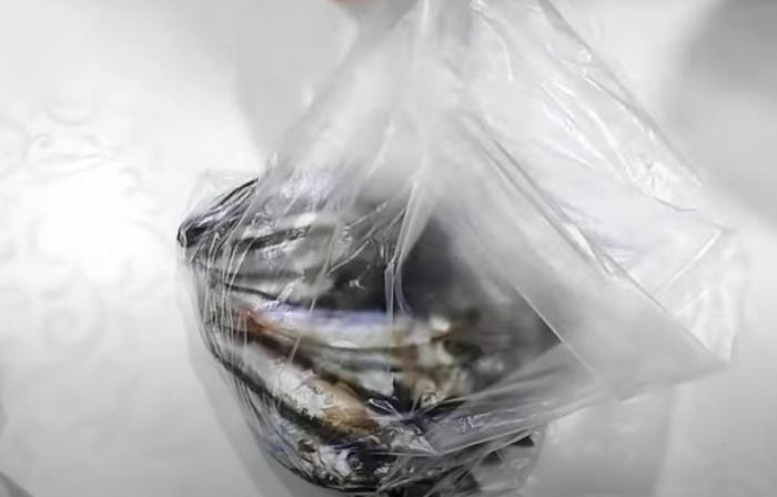 Мойва в пакете