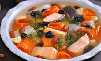Красивое заливное из рыбы с желатином