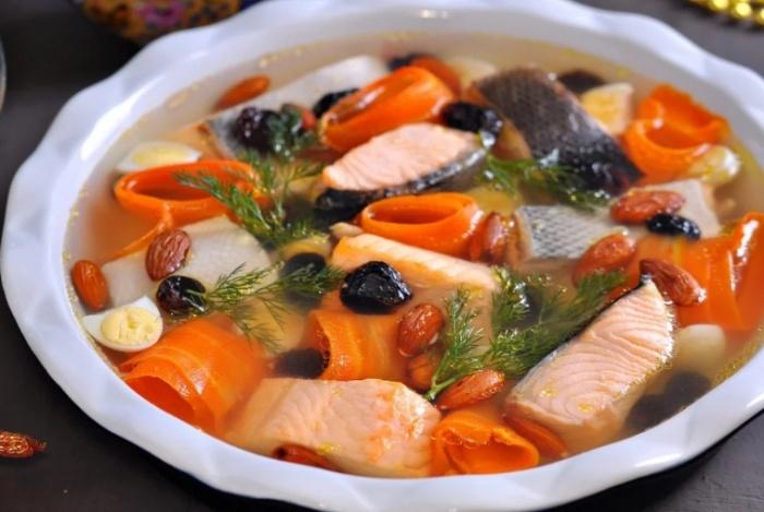 Заливное из рыбы - 5 рецептов приготовления заливного с желатином