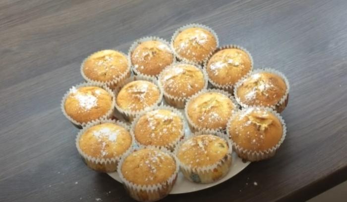 Творожные кексы из формочек