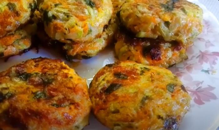 Оладьи из кабачков с сыром без муки и жаренные на сковороде