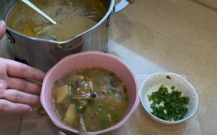 Суп из сушеных белых грибов с картошкой