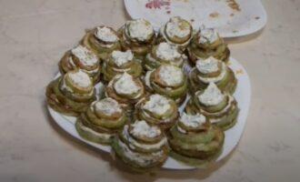 Жаренные кабачки с майонезом и чесноком