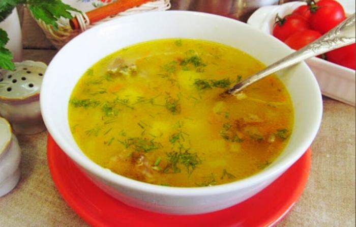 Суп с сушеными грибами и вермишелью
