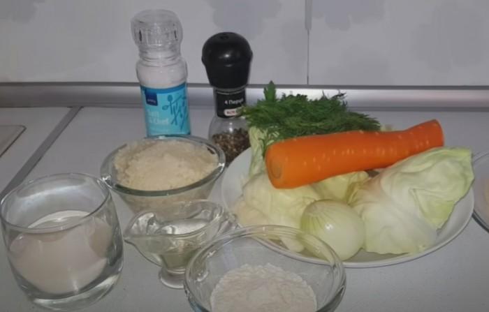 Ингредиенты для постных капустных котлет