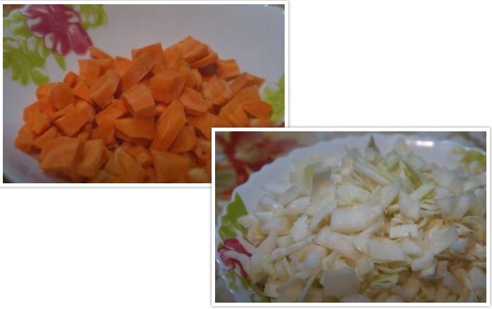 Лук с морковью нарезанные кубиками